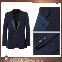 100% wool notch satin lapel 1 button custom men's coat pant designs wedding suit