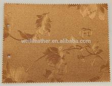 el patrón de flores de pvc de cuero sintético para la tapicería de papel tapiz decorativo