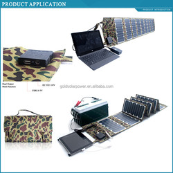 cheapest factory price 60W folding solar charger with SUNPOWER CELL for laptop, bike, battery etc.