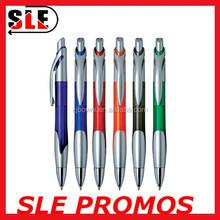 Office Supply Plastic Barrel Fashion Design Ball-Point Pen, Blue Ink