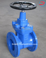 Manual gear operated resilient seated DIN standard flange end gate valve dn600
