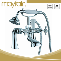 China brass deck mounted old bathroom faucets