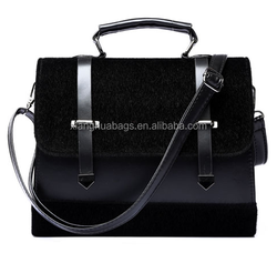 Europe fashion lady hand bag trendy bags with horse hair