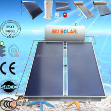 2015 new arrival 300L flat plate pressurized enamel solar thermal water heaters for cold area and bad water quality