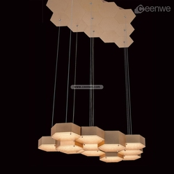 Elegant cage pendant light LED 54W Lights Pendant lighting iron aluminum acrylic gold Finish