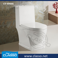 Promotional floor mounted one piece plastic toilet bowl for human asian toilet