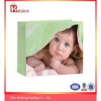 3 size Boutique baby gift bag paper grocery door gift paper bags with handles