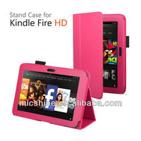 Classic stand leather case cover for Amazon Kindle Fire HD 7 (2012) kindle fire hd 7 case