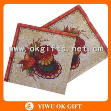Oil painting types of tissue paper for dinner party and restaurant supply