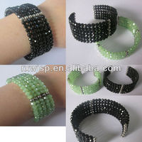 2015 new fashion 316L stainless steel jewelry crystal & beads bracelet