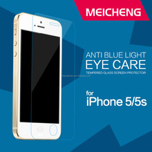 anti blue ray tempered glass surface with nano-electroplate coating high transparency glass shield