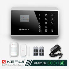 Avanzada de panel táctil tft a color de pantalla iphone& android app gsm sistema de alarma kit( kr- 8218g)