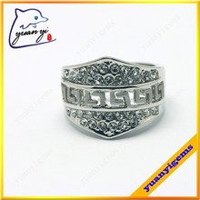 high end fashion jewelry alloy modern mens ring