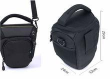 Black nylon dslr cheap camera bag