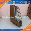 Boa!/oem odm vidros duplos correr janelas de alumínio de desenho/grandes janelas de vidro de alumínio madeira perfil de acabamento
