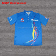 Freely printing dri fit corporate sublimated polo tops