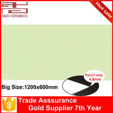1.2x0.6m pure color porcelain super glaze floor and wall thin tile