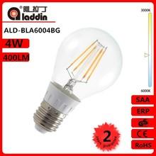 high performance lampadine led filamento 4w e27/E26 100-250v with cc driver