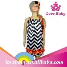 New design wholesale pillowcase dress/kids costumes dress with stripe pattern