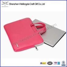2015 new design promotion pretty leather ladies laptop bag