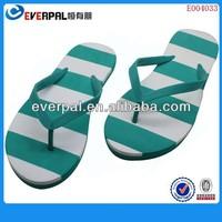 Color striped EVA float flip flop