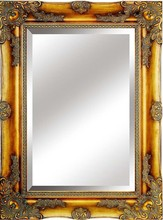 antique wooden mirror with paint dropping finishing