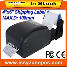"4"" 5"" 6"" auto-adhesivo etiqueta de la impresora térmica de etiquetas de la etiqueta con software itpp033"
