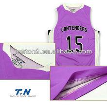custom sleevesless basketball clothes equipments of basketball jersey