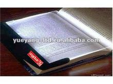 Emergency use wedge panel led book night Light/flat panel led lighting/book reading light