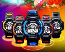 fashion kid silicone digital sports led watch