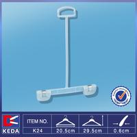 Wholesale long neck ring hook small plastic pants hanger clips for kids K24