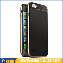 Factory Price PC Frame and Soft TPU Hybrid Case 2 in 1 Back Cover for iPhone 6S