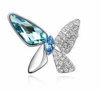 616 african stainless steel jewelry butterfly brooch rhinestone brooch