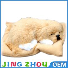 lifelike sleeping pet/purple dog toy,stuffed plush dog toy