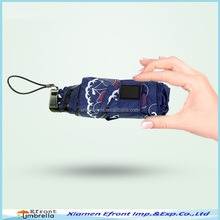 Mini 5 folds pocket umbrella for Sun and rain (UV protection, Printed)
