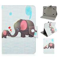 Lovely Elephant PU Leather Wallet Case Cover for iPad Air 2