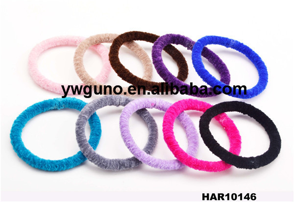 latest color elastic band hair accessories 2015