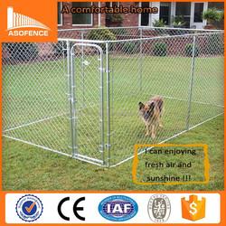 Heavy duty 12x12x6 foot classic galvanized outdoor dog kennel