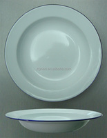 Promotional Enamel White Soup Plate
