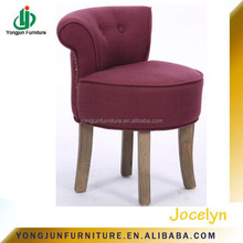 Fashion Fabric Home Stool With Wood Legs For Child/Colorful Small Fabric Stool/fabric seat stool