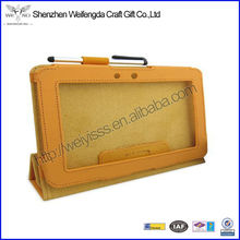 2013 Factory Hot Selling High Quality 360 Degree Rotating Leather Case For iPad Mini With Pen Slot