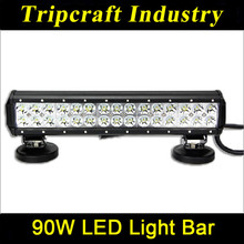 90W bar led light ATVs, SUV, UTV, truck,bus,12V/24V Waterproof IP67 bar led light