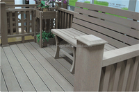 Recycled material special wood plastic composite wpc bench