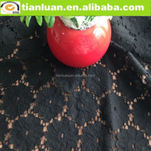 blace floral pierced cotton and nylon lace fabric for garment