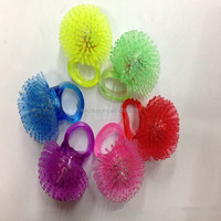 100pcs Soft Jelly Glowing In The Dark LED Glow Finger Rings Light For Wedding Birthday Party Favor DHL Freeshipping