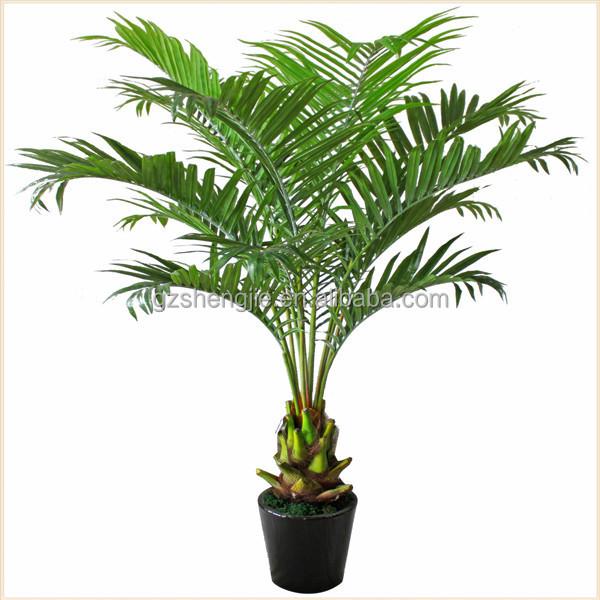 Miniature en plastique palmier plantes vertes for Plantes artificielles occasion