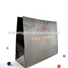 Impresión marca coated paper shopping bolsas de regalo