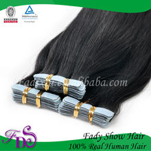 Top quality 100% virgin human double side wholesale tape hair extensions