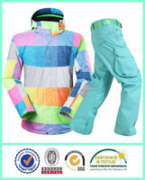 Beat selling warm men active colourful blue ski suits hot seamless snow ski jacket sets for men