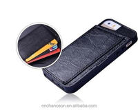 Simple leather phone case with card holder leather cell phone case for iphone 5 5s 6 6s 6plus CO-LTC-1042